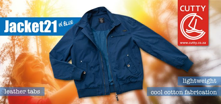 Stay comfortable with this Cutty Jacket 21. Made from 100% cotton, this lightweight jacket features a classic zip up front with ribbed hem, branded trims and leather tab on the front chest. Wears well over a basic knit or simple tee and comes in two cool colour ways - blue and butter.