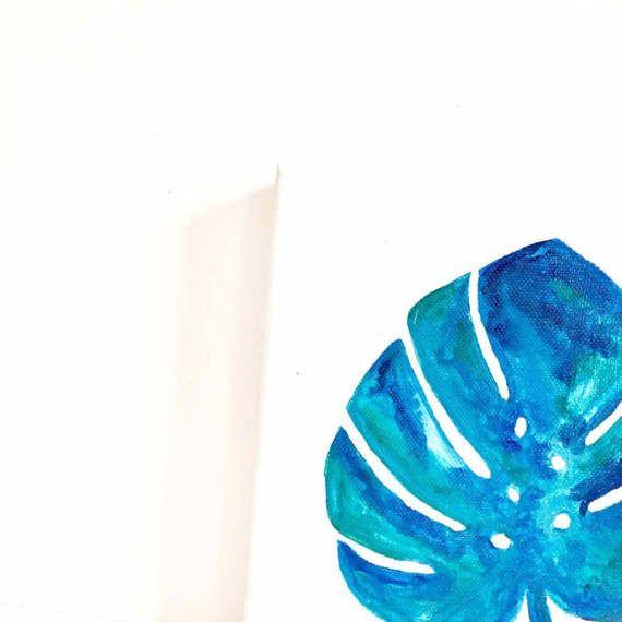 Peinture Monstera par NATACHACARRIER sur Etsy