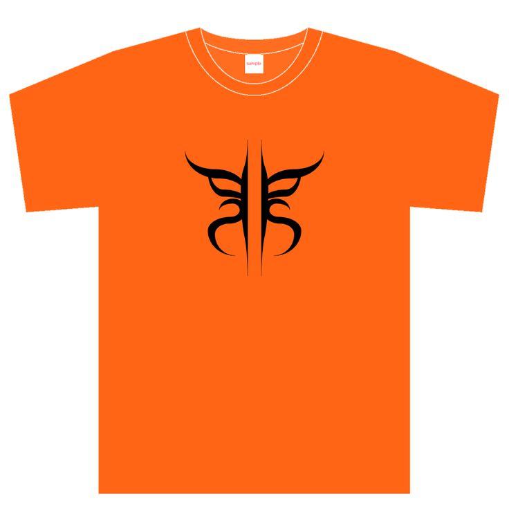 Tシャツ_kabuki|歌舞伎の隈取りを pick'n'sticks の「p」と「s」でデザインしたTシャツです。背面に pick'n'sticks のロゴが入ります。-kabuki-