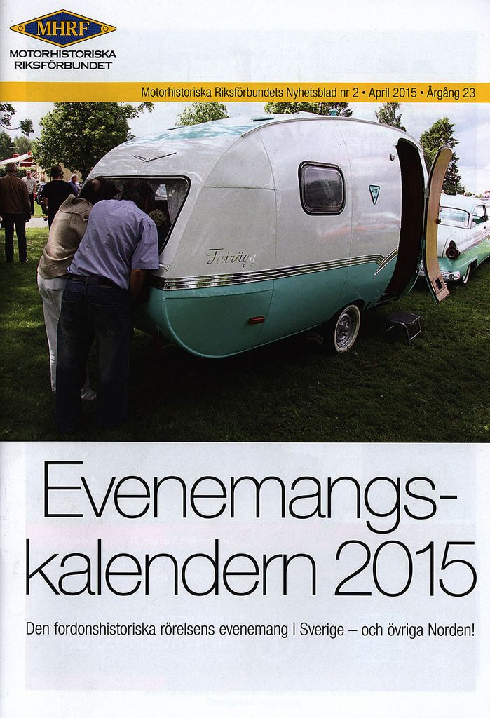 https://flic.kr/p/G13hGD | MHRF - Motorhistoriska Riksförlbundet;  Evenemangskalendern 2015; Sweden | tourism travel brochure | by worldtravellib World Travel library