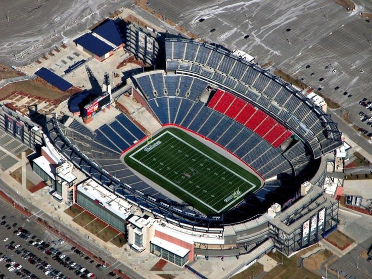 Patriots stadium. Never to this stadium, but have been to the old Foxboro stadium with Aluminium seats. Very cold.