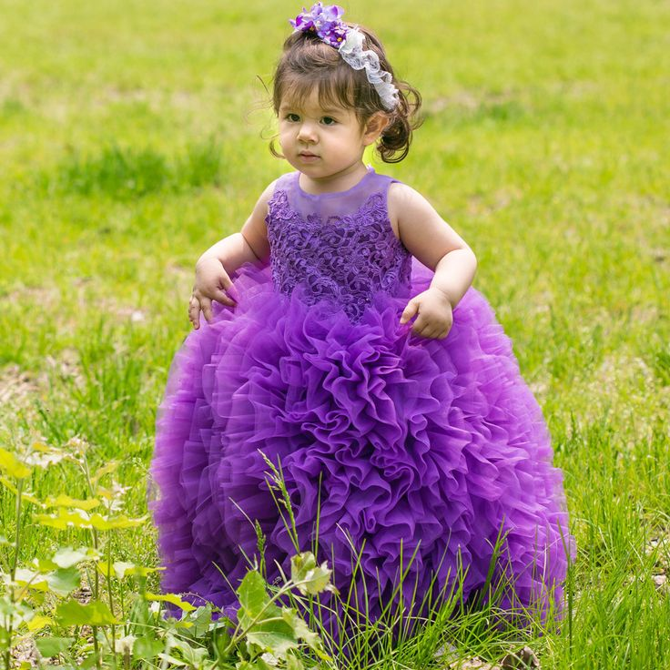 Find More Flower Girl Dresses Information about 2016 Little Girl Ball Gown Appliqued Glitz Pageant Floor Length Flower Girl Dresses Communion Gowns Purple Pink White Lace,High Quality lace halter mini dress,China lace black dress Suppliers, Cheap lace bodice bridesmaid dress from BlingBling Dresses on Aliexpress.com