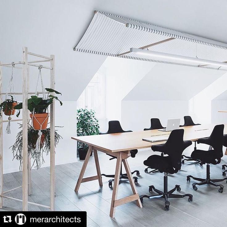 Flokk @flokk_design on Instagram: Repost from MER architects. HÅG Capisco in black featured at Agur office in Sweden. Read full story about Agur's new office http://mer.se/projekt/augur/