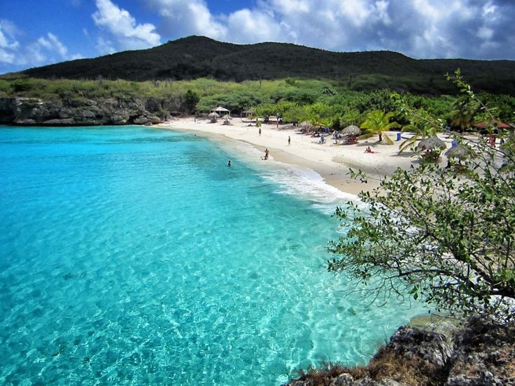Playa Kenepa (also known as Knip Beach) in Curacao