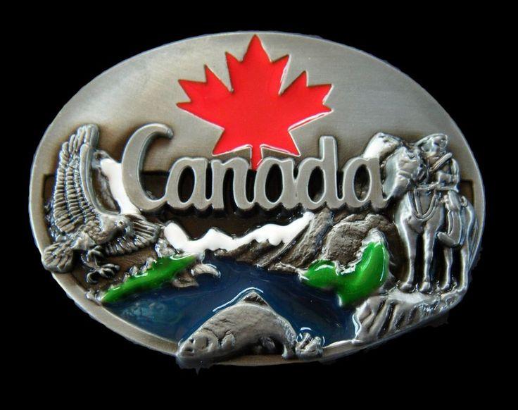 Canada Canadian Canadien Maple Leaf Flag Mounty Belt Buckle Boucle Ceinture #coolbuckles #Canada #Canadaflag #mounty #beltbuckle