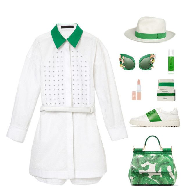 """""""Untitled #96"""" by tantisper ❤ liked on Polyvore featuring Alexander Wang, Dolce&Gabbana, Valentino, blow, Baxter of California, Rimmel and fresh"""