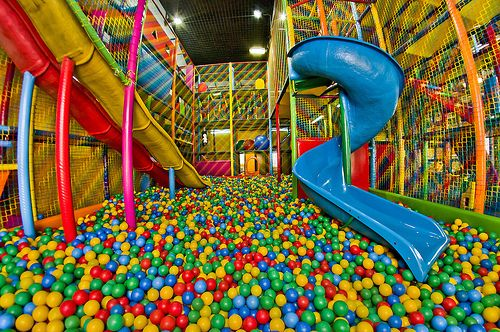 Giant Ball Pit, imagine how many kids could get stuck or lost in that. I always got stuck.