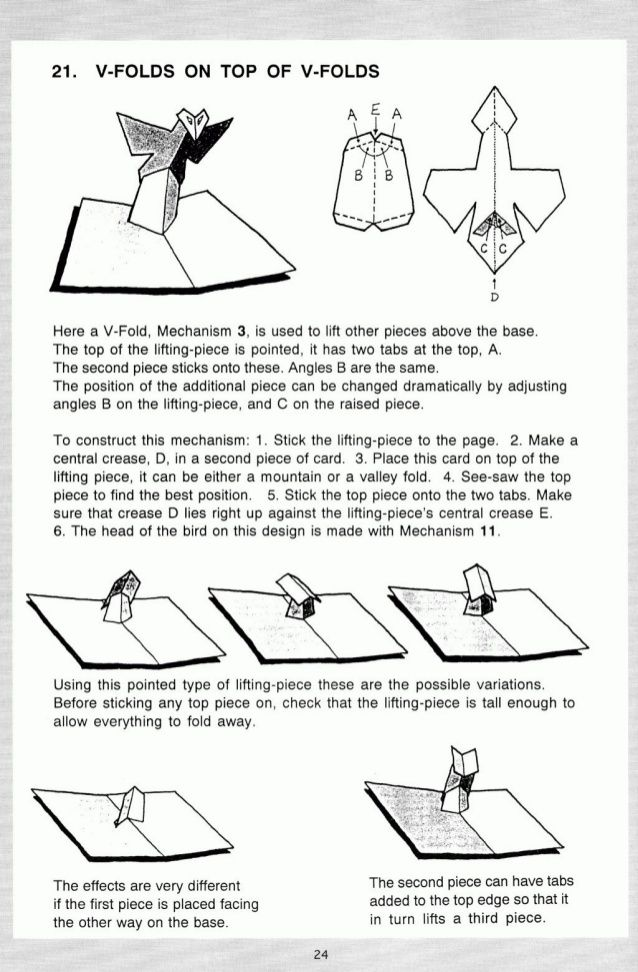 how to make pop up book mechanisms
