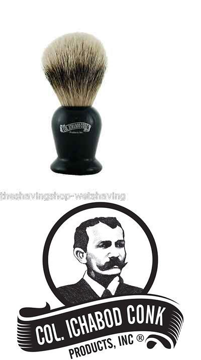 Shaving Brushes and Mugs: Col Ichabod Conk Pure Badger Shaving Brush #920 -> BUY IT NOW ONLY: $49.95 on eBay!