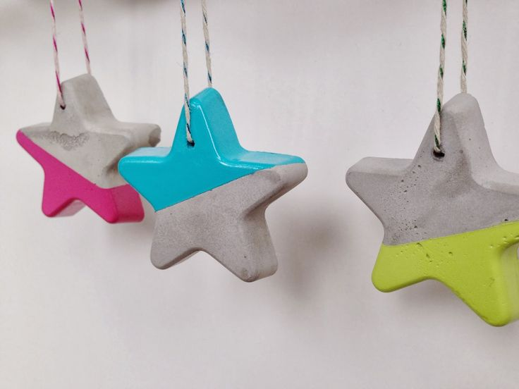Ah how I love a modern craft project. These simple cement ornaments were  incredibly easy to make and I love the way they turne...