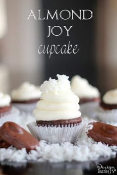 Almond Joy Cupcakes that will most definitely bring JOY!! Coconut and chocolate are bliss.