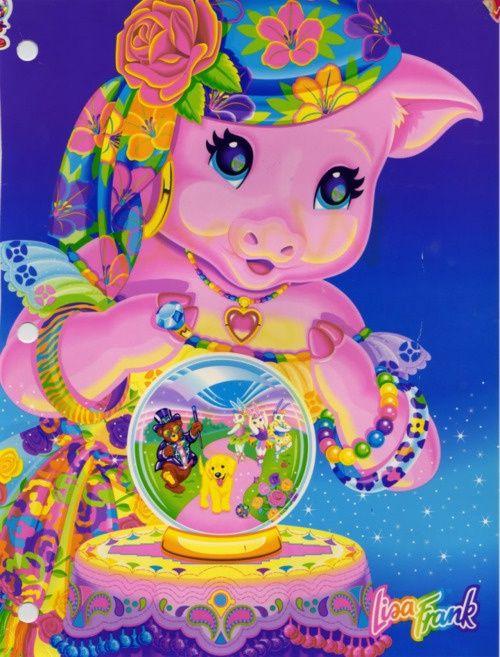 lisa frank | Lisa Frank fortune telling pig folder | Lisa Frank