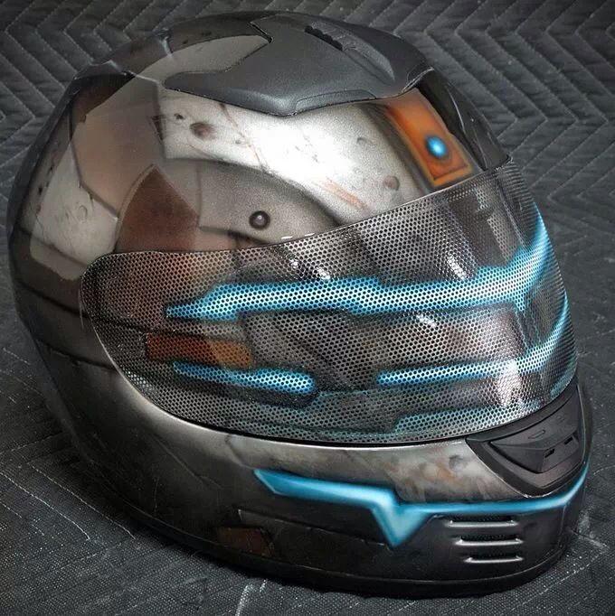 custom dead space motorcycle helmet guy gear amp gadgets
