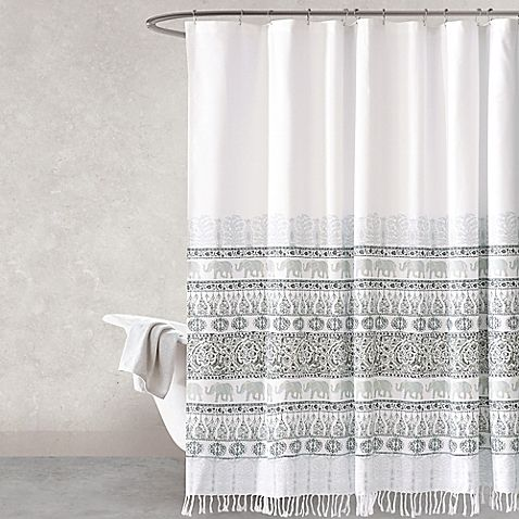 Full Of Charmingly Exotic Style The Mindra Elephant Shower Curtain Will Bring A Bohemian To Your Living Space Cotton