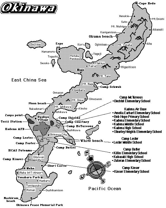 Okinawa Map I Went To Kubasaki Hgh School K Okinawa - Us military bases in okinawa map