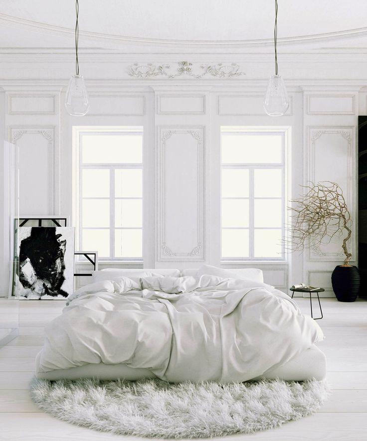 Pure bedroom design - minimalistic and Parisian chic