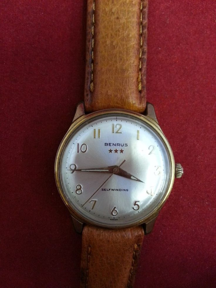 VINTAGE BENRUS 7021 AUTOMATIC WRIST WATCH 17 JEWELS SWISS MADE WORKING CONDITION