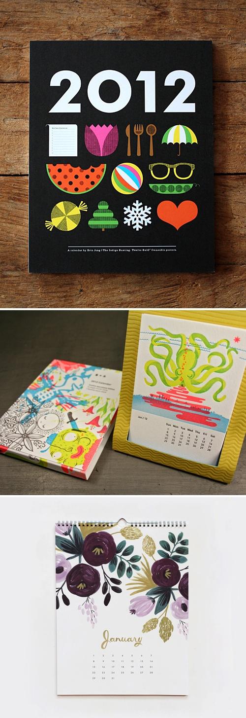 2012 calendars / illustrations