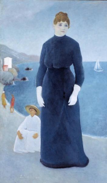 """UM BERTO LILLONI: Sofia Gervasini (1931). Fu rifiutato dai parenti perché """"troppo frivolo""""."""