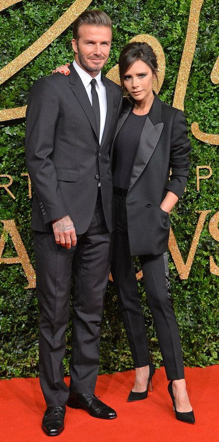 See All of the Best Looks from the 2015 British Fashion Awards Red Carpet - David and Victoria Beckham  - from InStyle.com
