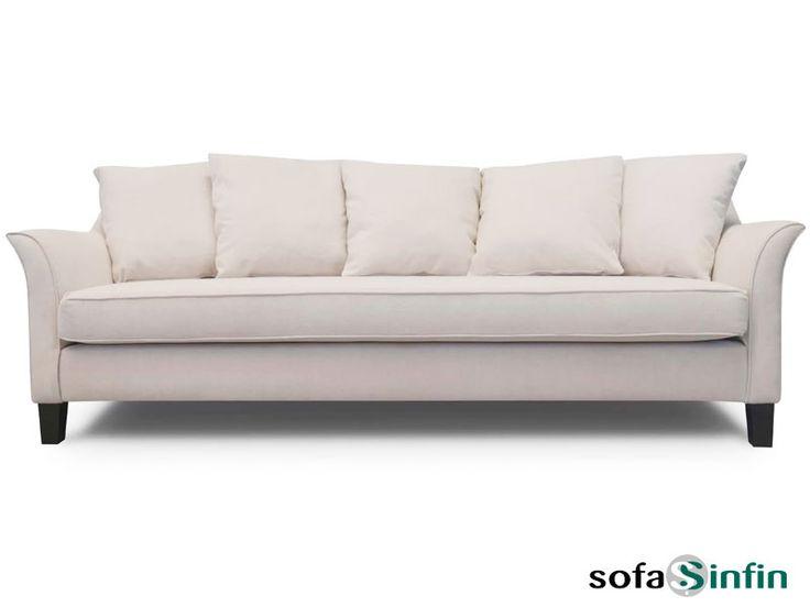Sofá clásico de 3 y 2 plazas modelo Sintra fabricado por Losbu en Sofassinfin.es