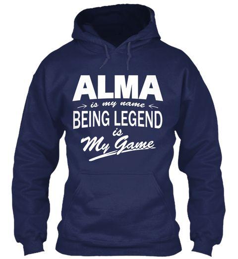Alma Name, Legend Game Navy Sweatshirt Front