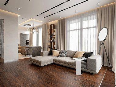 Дизайн квартиры в стиле минимализм, 103 кв.м., ЖК «Смольный парк» -фото интерьера