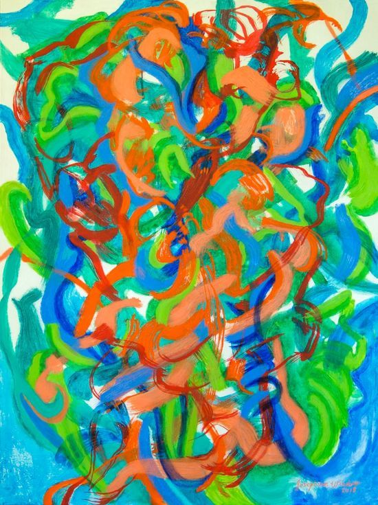 Buy Rhythms 2 - Colours Blue, Orange - Green, Red, Acrylic painting by Josephine Window on Artfinder. Discover thousands of other original paintings, prints, sculptures and photography from independent artists.
