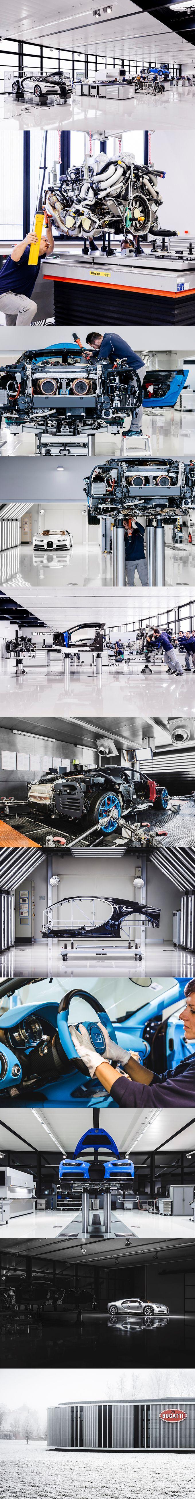 2017 Bugatti Chiron prouction / 1479hp 8.0l W16 / Molsheim France / blue white / 17-324