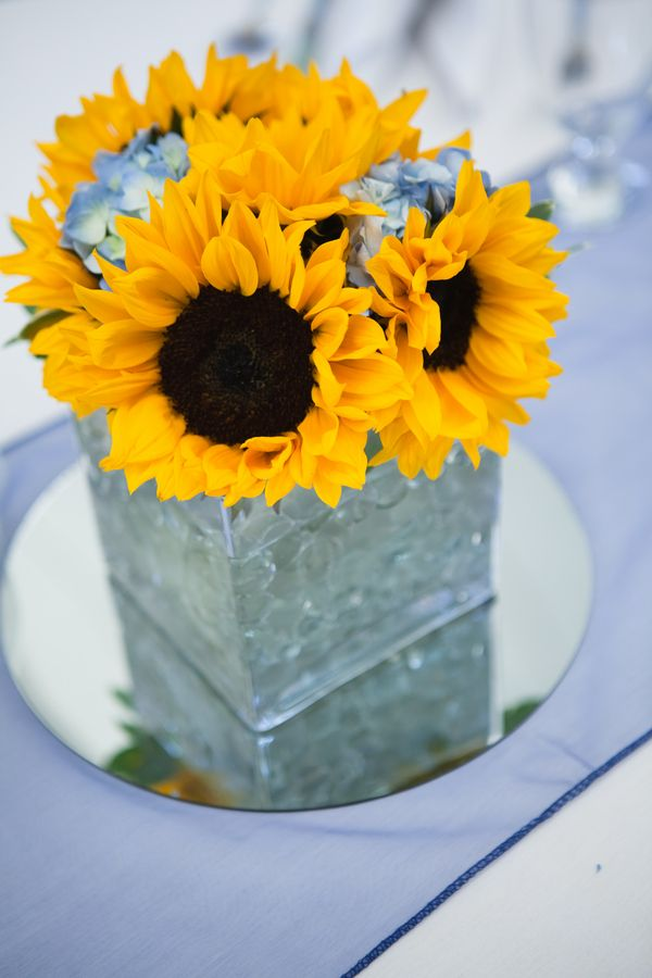 Sunflower Wedding Centerpiece DIY Tennessee By The Collection