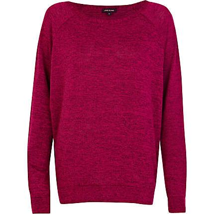 Pink marl slouchy top £22.00