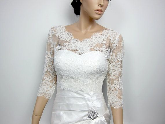 Hey, I found this really awesome Etsy listing at http://www.etsy.com/listing/96687160/v-neck-ivory-alencon-lace-bolero-jacket