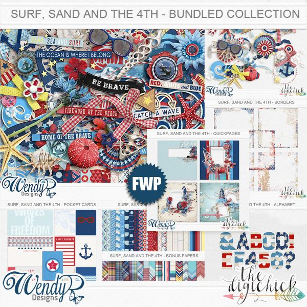 Surf, Sand and the 4th - Bundled Collection