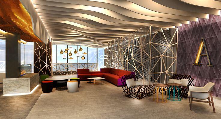 Hotel Hall #InteriorDesign #Arquitecture #InteriorDesign #Restaurant ...