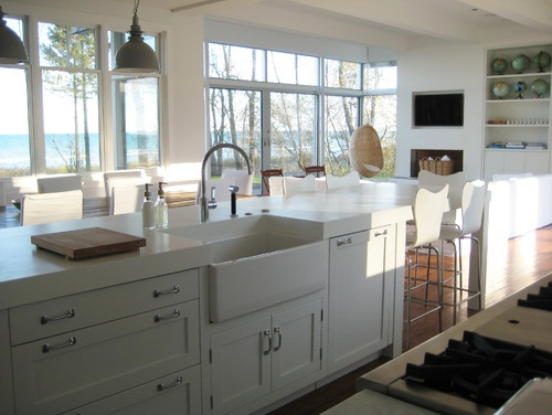 contemporary kitchenKitchens Interiors, Kitchens Design, Contemporary Kitchens, Beach Style, Farmhouse Style, Farms Sinks, Farmhouse Kitchens, Farmhouse Sinks, Kitchens Hardware