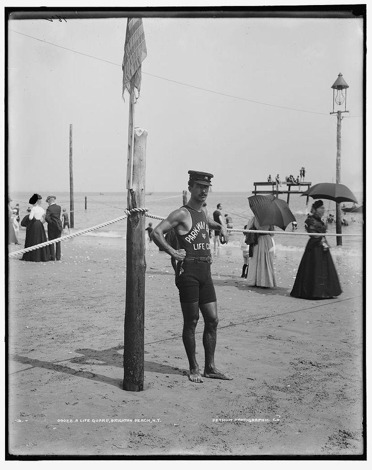 A life guard brighton beach n y 1906