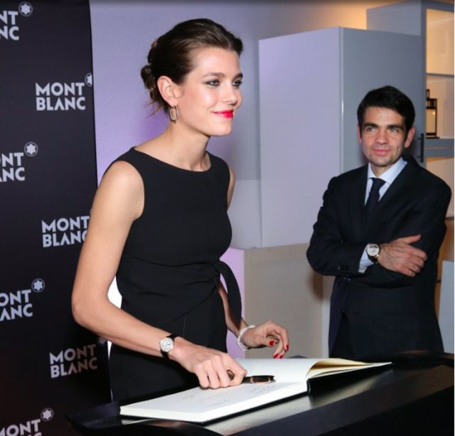 Charlotte Casiraghi a dinner at the President Wilson Hotel Montblanc announced Charlotte Casiraghi as its new global brdand ambassaor during the Salon International de la Haute Horlogerie on January 19, 2015 in Geneva, Switzerland.