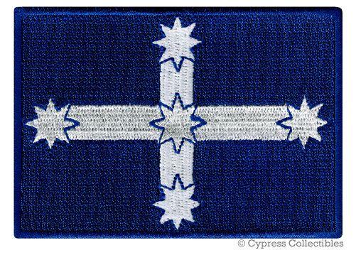 AUSTRALIA EUREKA FLAG Democracy Patch iron-on embroidered applique Aussie Protest Emblem