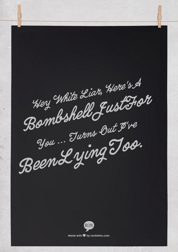 Miranda Lambert - White Liar,,,Love this song!