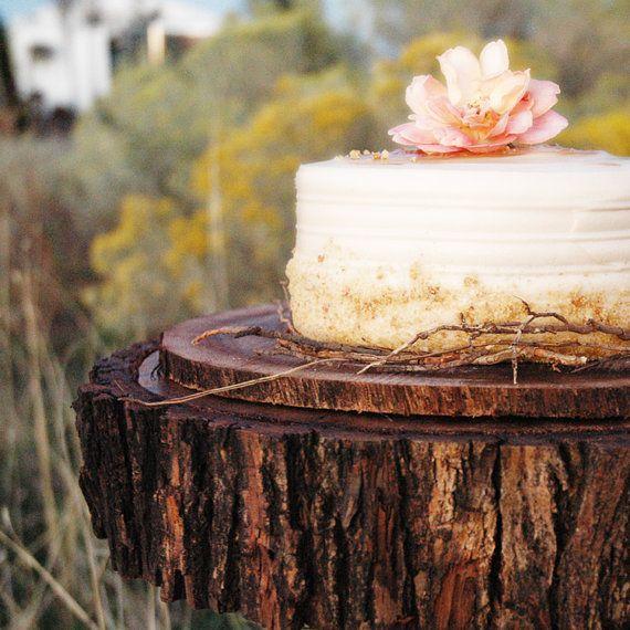 15 Tree Slab Cake Stand Aspen by RoxyHeartVintage on Etsy, $90.00