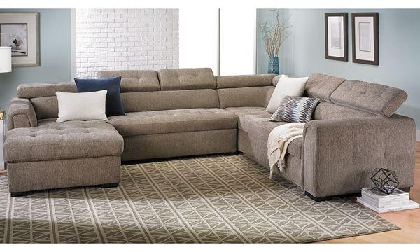 Leren Bank Toledo.Toledo Contemporary Sleeper Storage Sectional In 2019 Living Room