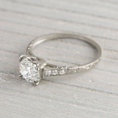 1.05 Carat Diamond Vintage Engagement Ring | Erstwhile Jewelry Co.