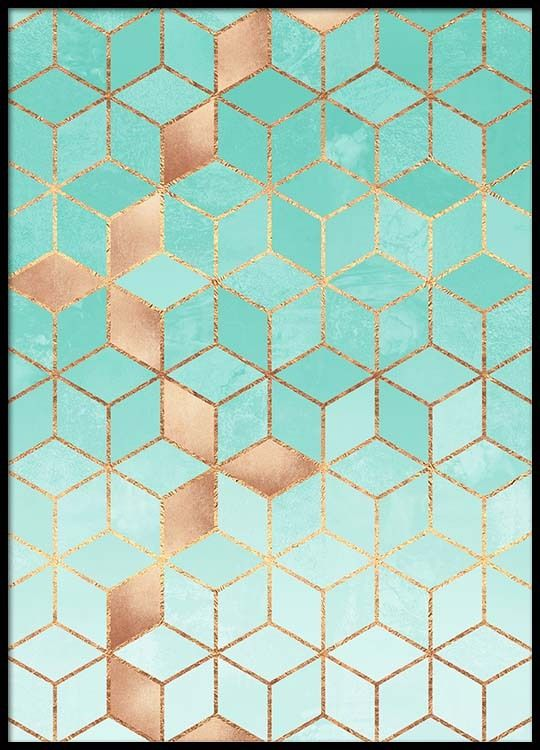 Soft Gradient Aquamarine Poster in the group New in at Desenio AB (pre0034)