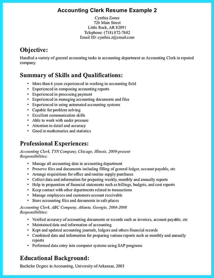 Account clerk resume sample 2019 resume examples 2020
