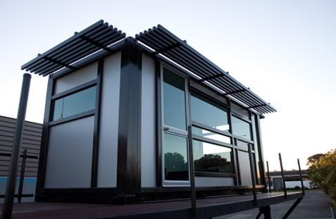 This small shipping container home can be used as a spare room, studio, home office, sleep-out or anything you want. The transportable 20 foot container unit can include various home devices for any taste and budget and so generates portable rooms with various functionality and can be delivered anywhere in the world.