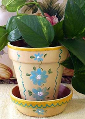 Painting Clay Pots--With Tender Nest?
