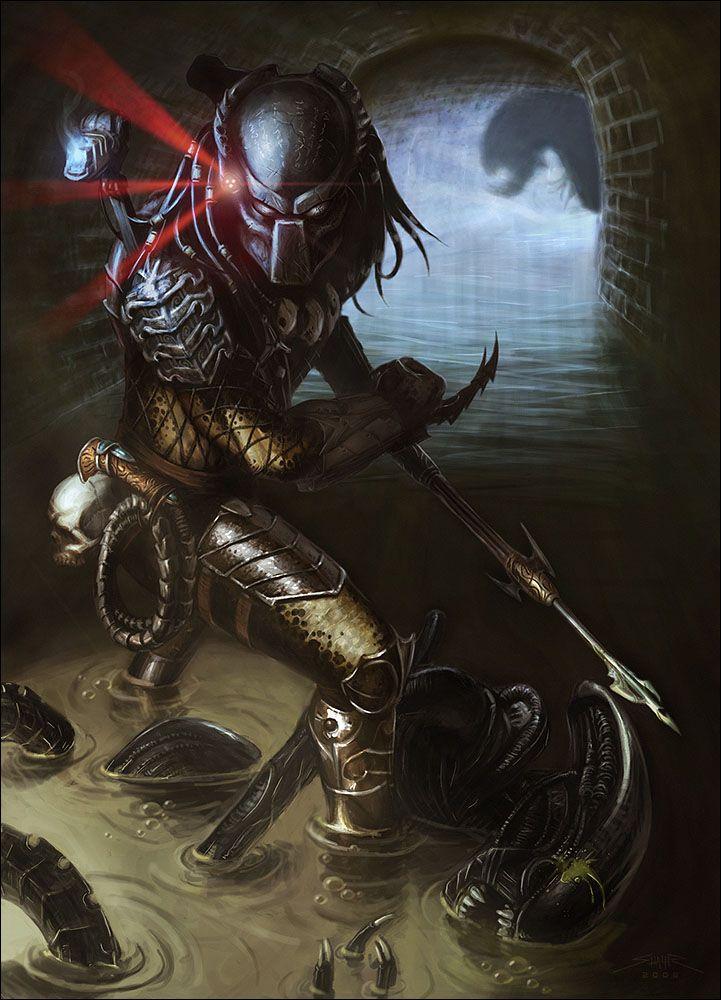 "Predator (Yautja, Hish) (Humanoid Xenomorph) (Planet Yautja Prime) Conqueror, hunter. Adaptive, agile. Super strength, stamina, intellect, radar sense. Invisibility. Voice-induced manipulation. Master tracker, marksman, swordsman, unarmed combatant. Power suit, gadgets, claws. Blast Power. 7' 0"" tall."