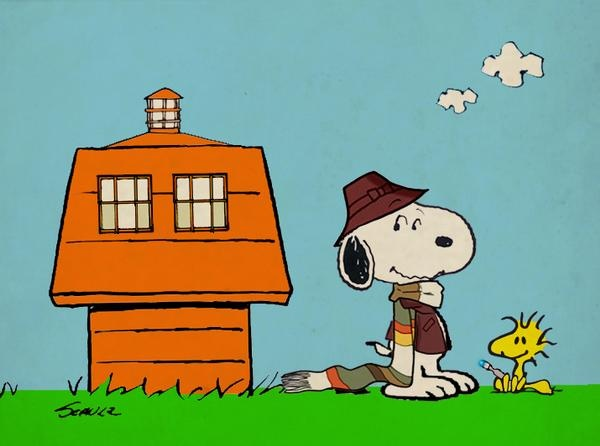 Snoopy + Doctor Who