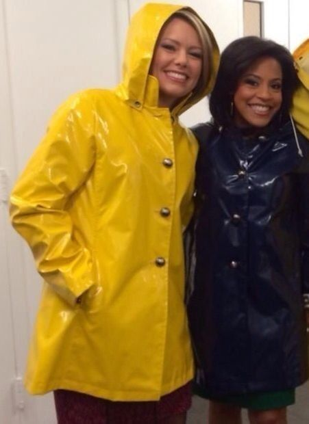 Pin on women reporters wearing raincoats d309390cd32