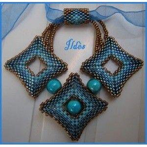 Schemas de bijoux en perles : Schema Pendentif Barko